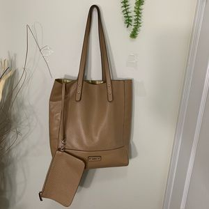 Roots Shoulder Tote With Pouch Bag